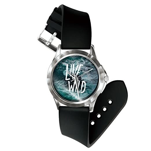 Souarts - Reloj de pulsera para mujer, diseño de alfabeto inglés, 24 cm, color blanco: Amazon.es: Relojes