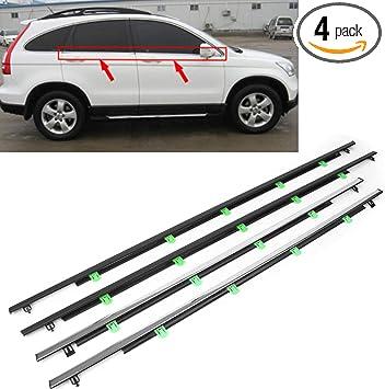 4xCar SUV Chrome Outside Window Weatherstrip Trim Seal Belt For Honda CR-V 07-11