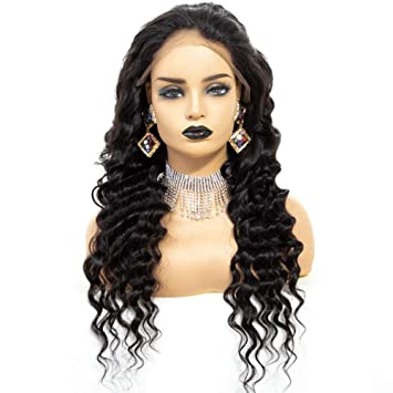 Amazon Com Brazilian Remy Hair Natural Hair Wig Lace Front Wigs