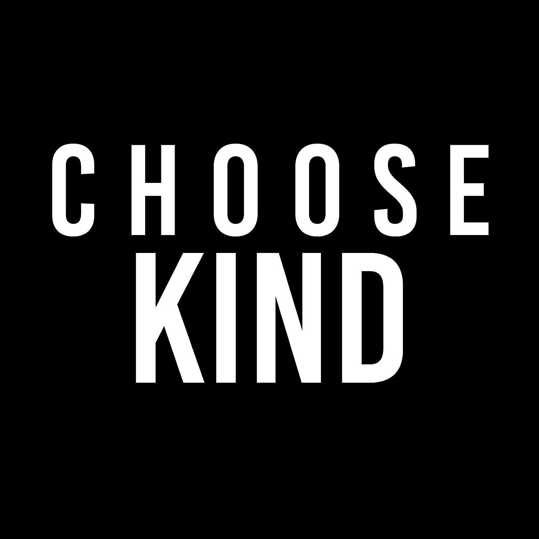 White Choose Kind 6 Vinyl Car Decal