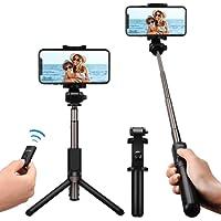 Mpow Palo Selfie Trípode, Selfie Stick 2 en 1 con Remoto Bluetooth Monopod Extensible para iPhone X 8 8 Plus 7 7 Plus 6 6s 6s Plus Huawei p10 Lite p9 Lite p8 Lite Mate 10 Samsung, Negro