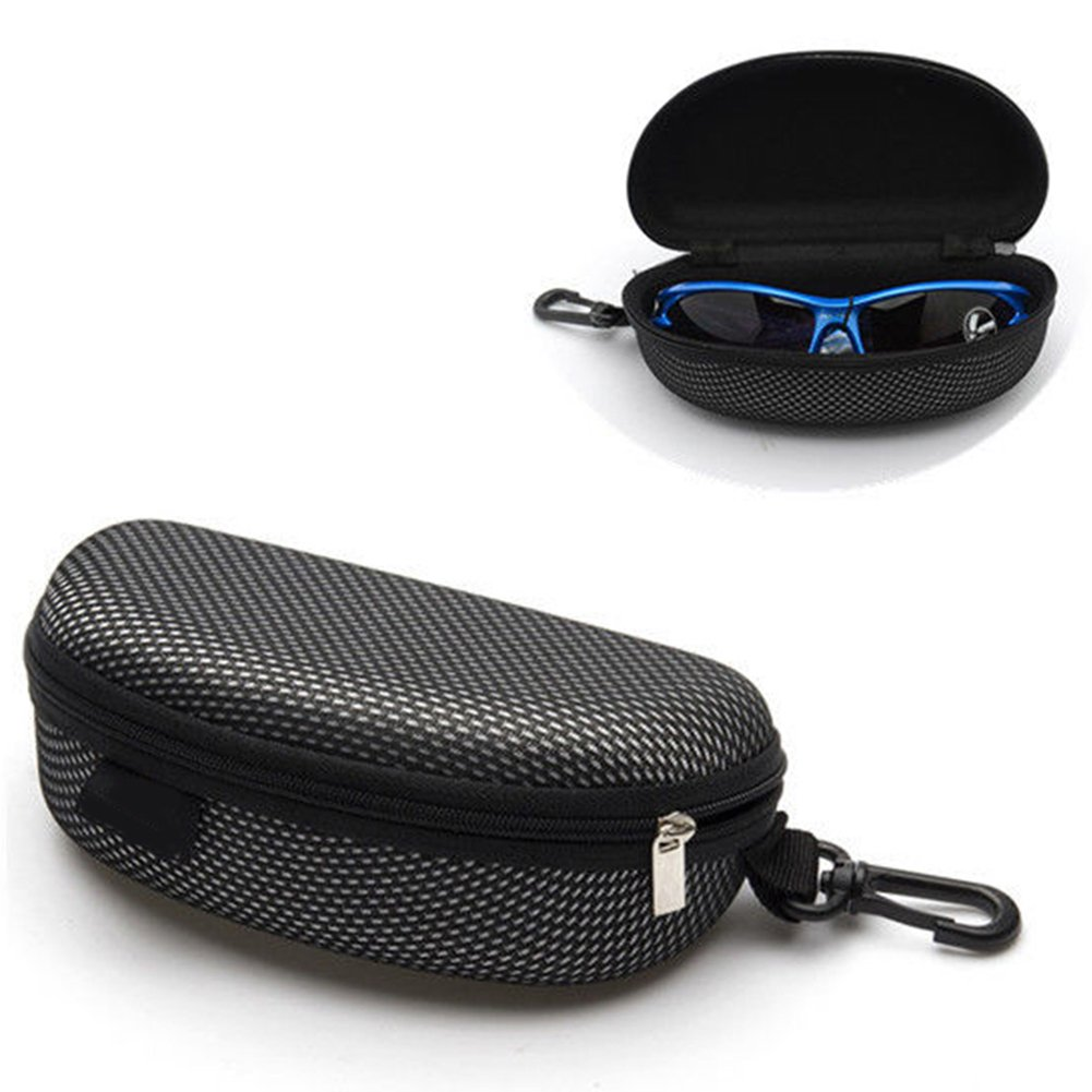 wewa98698 Portable Zipper Eye Glasses Sunglasses Hard Shell Case Protection Box Container