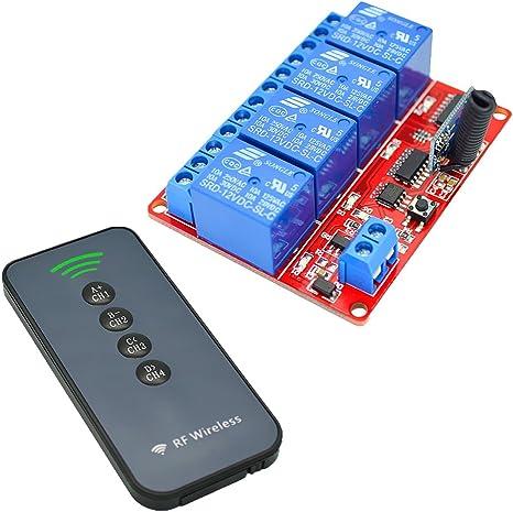 4CHRelaisschalter Sender Empfänger Funkschalter Relais drahtloser Lichtschalt