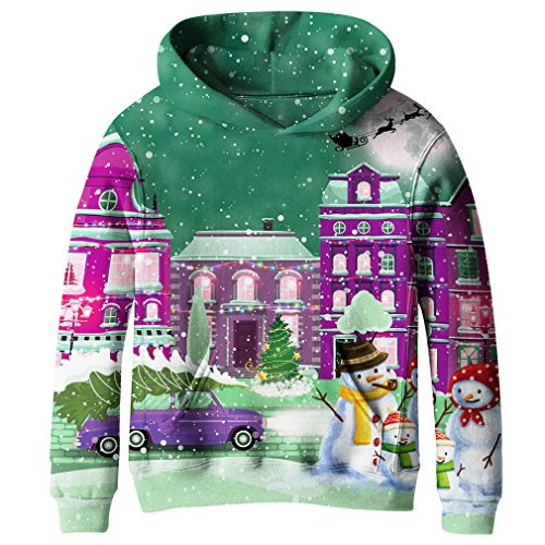 89dbcbd53 SAYM Boys'Teen Youth Galaxy Fleece Sweatshirts Pockets Cotton Hoodies 4-16Y