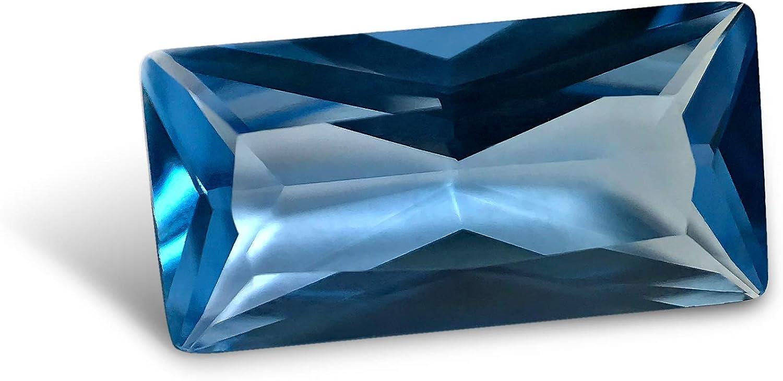 Topaz azul cielo #144. Baguette 5 x 10 mm. 1,4 unidades Piedra preciosa suelta de imitación de siamita