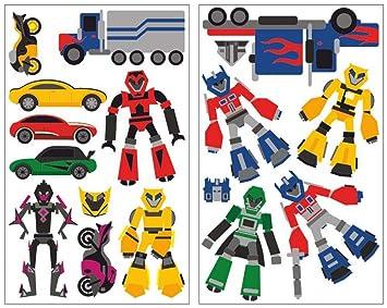 16 teiliges robot aspirador juego de adhesivos decorativos ...