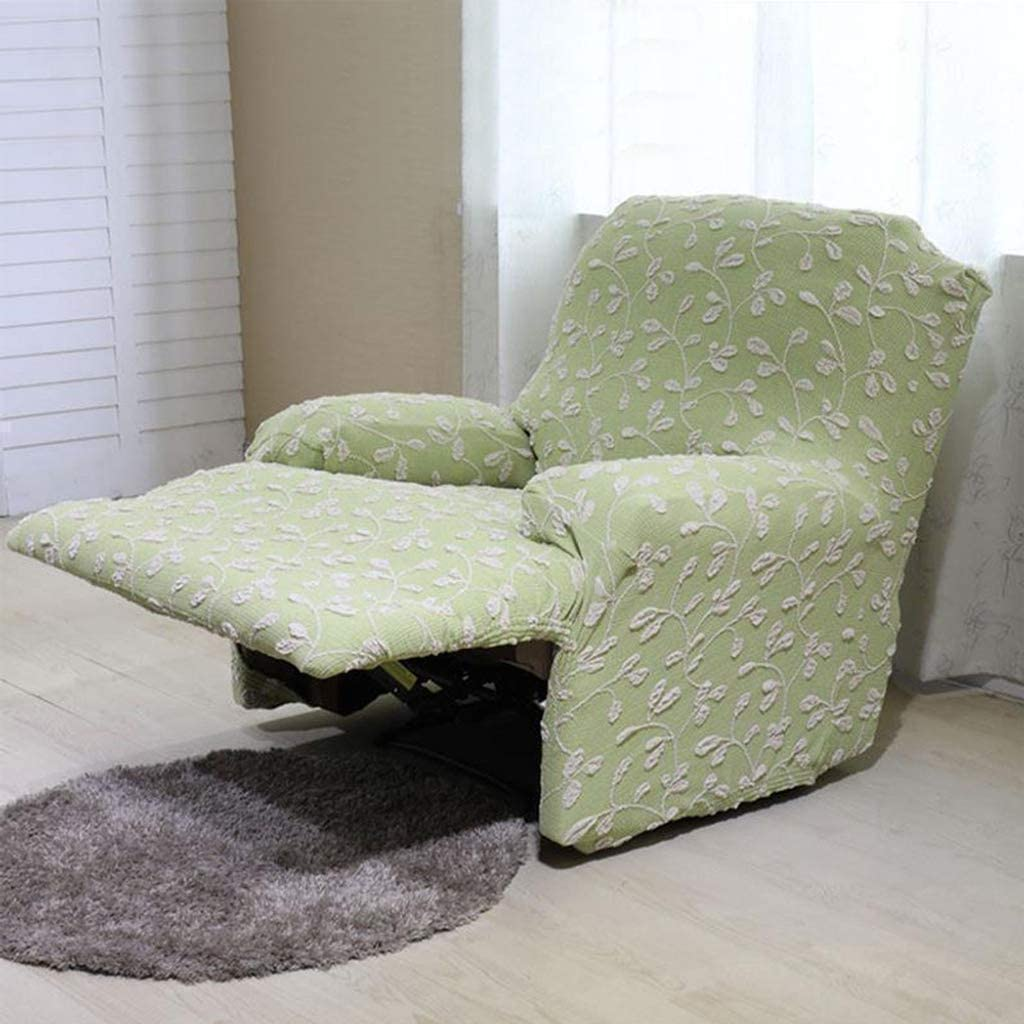 MO&SU Stretch Reclining Sofa Slipcover, Couch Covers for Recliner Furniture Protector Sofa Cover for Reclining loveseat 3 Cushion Couch -Loveseat 170-210Cm-Green A