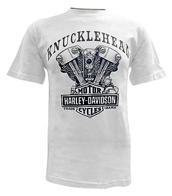 1b43e130 Harley-Davidson Men's Knucklehead Engine Short Sleeve T-Shirt White  30298303 ...