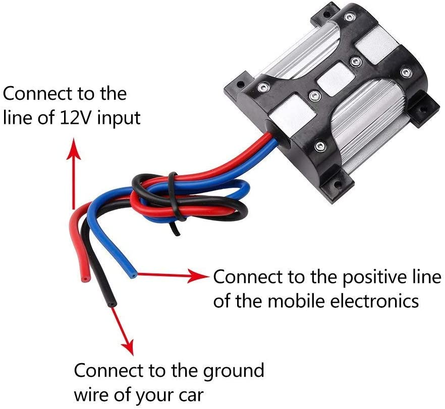 FMS 10/AMP/12V/Car/Audio/Radio/Amplifier/Noise/Suppressor/and/Stereo/Filter/with/Ground/Loop Isolator/