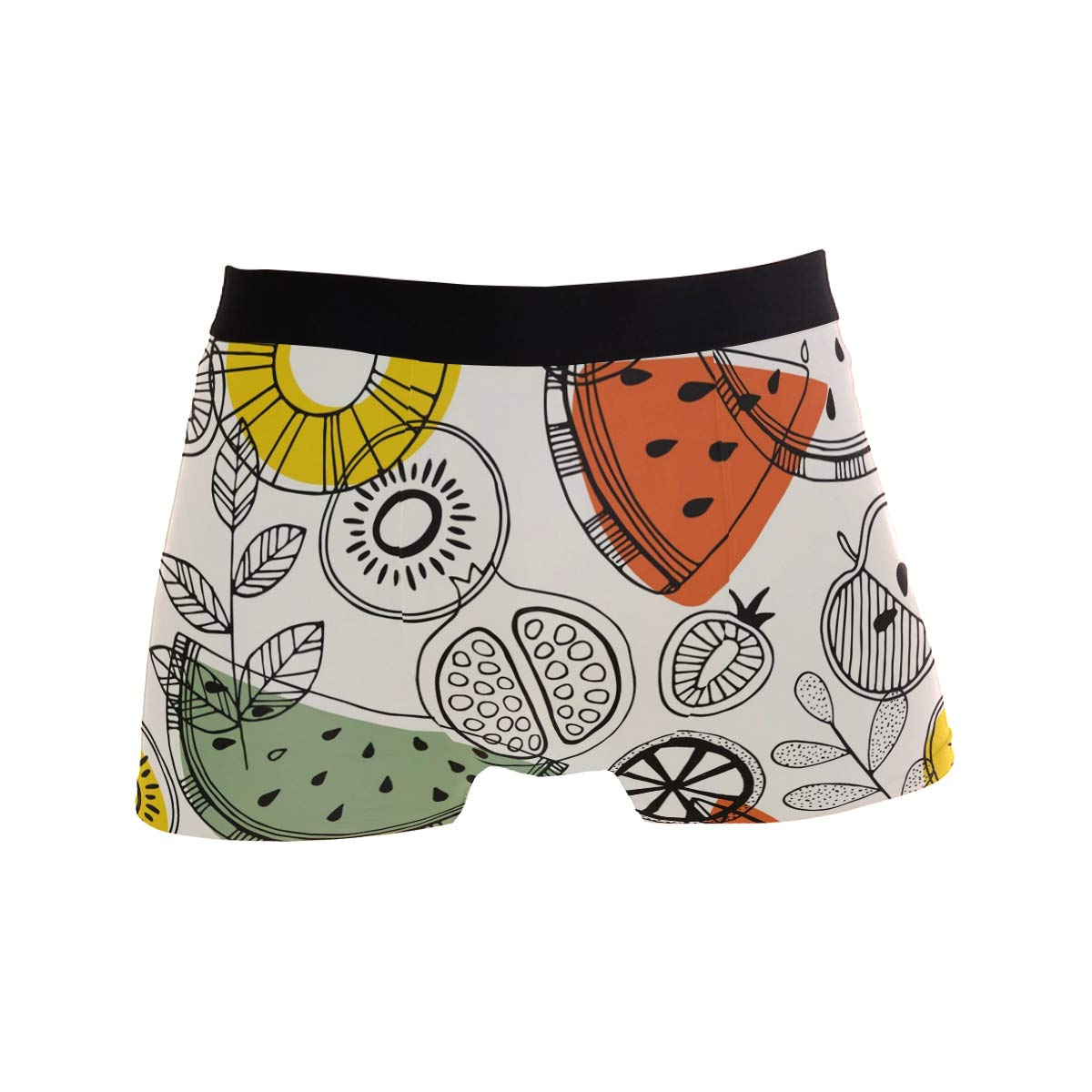 61c77846e212 Mkuell Fruit Melon Comfortable Men's Boxer Briefs Multi-Size Soft Underwear  S at Amazon Men's Clothing store: