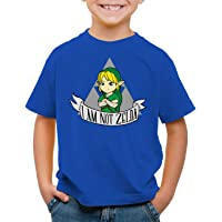 style3 I Am Not Zelda Camiseta para Niños T-Shirt Link Hyrule Gamer