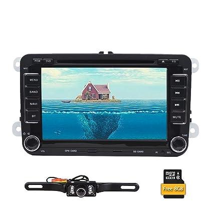 Reproductor de DVD, radio estéreo y navegador GPS doble din con pantalla de