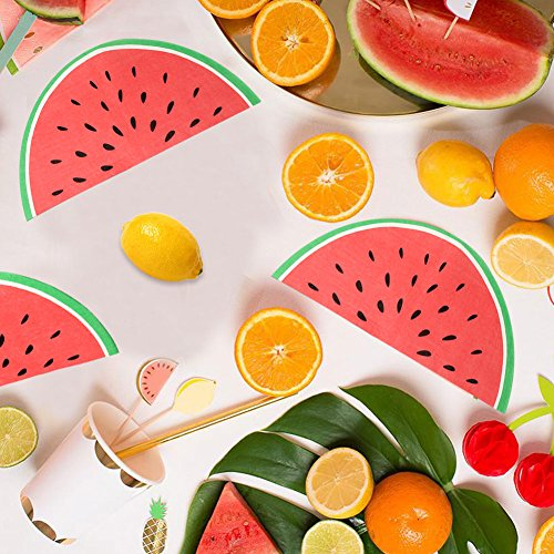 Fruit Napkins - OurWarm 40PCS Disposable Napkins Watermelon Fruit Paper Party Napkins Kids Hawaiian Tropical Birthday Decorations