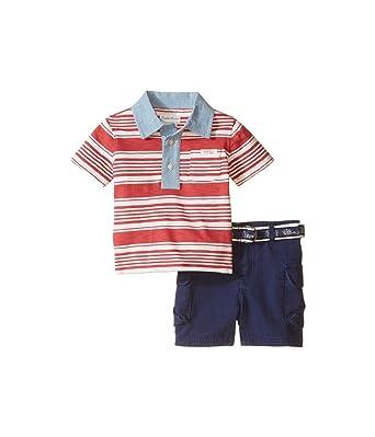 86eb023976199 Ralph Lauren Baby Boys  Striped Polo Shirt   Cargo Shorts Set (3 MONTHS