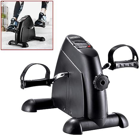 OneTwoFit Mini bicicleta de ejercicio portátil Pedal Ejercitador Patas y brazos Fitness Ciclismo con pantalla LCD para personas mayores Rehab OT068: Amazon.es: Deportes y aire libre