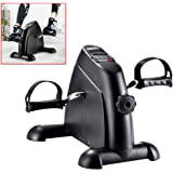 OneTwoFit Mini Exercise Bike Portable Pedal Exerciser Legs and Arms Fitness Cycling with LCD Display for Seniors Rehab