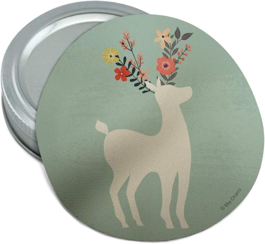 Deer and Flowers Round Rubber Non-Slip Jar Gripper Lid Opener