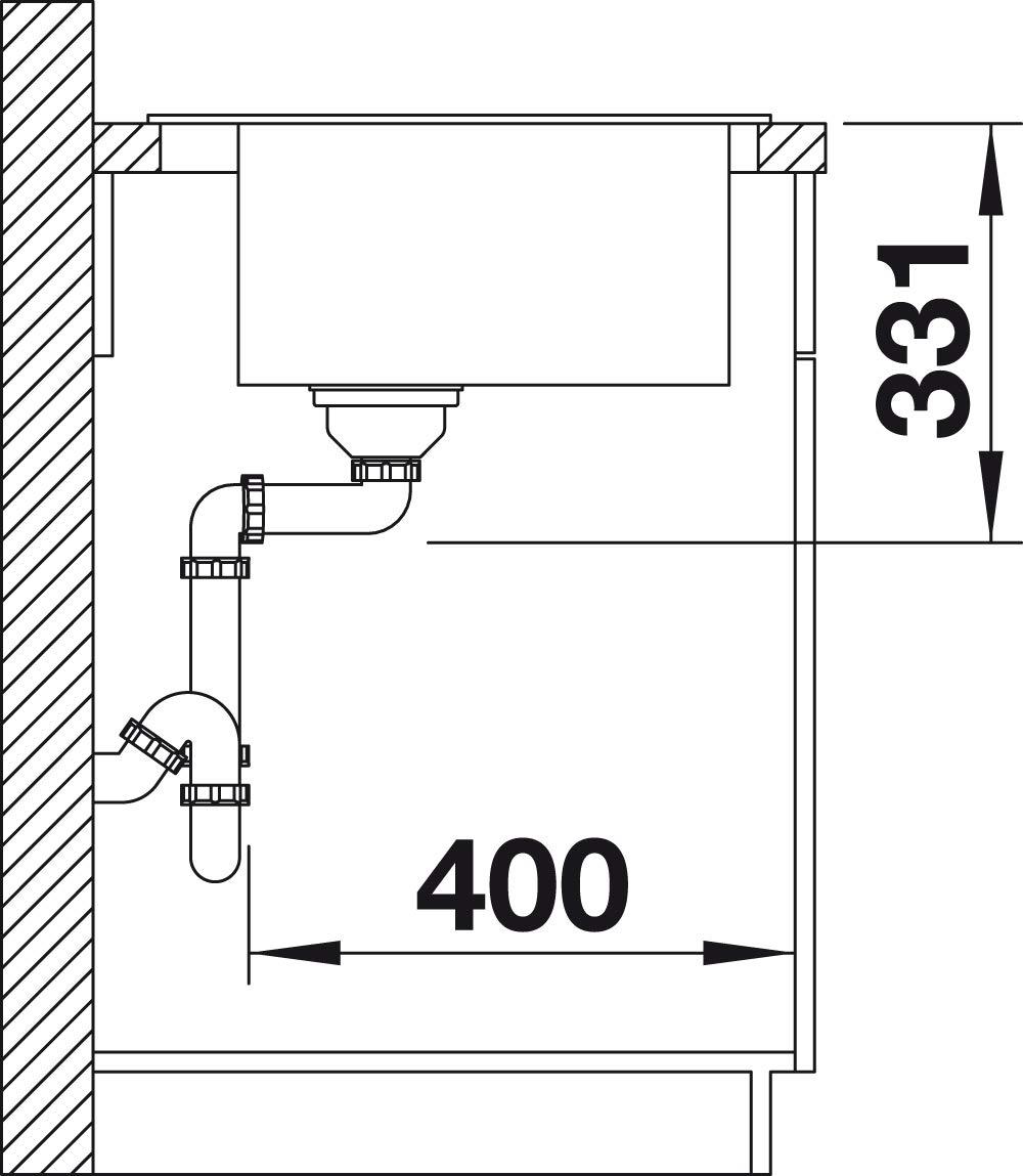 BLANCO 523686/pleon 6/6/SILGRANIT PuraDur avec bonde T/él/écommande anthracite
