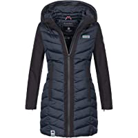 Navahoo Damen Wintermantel Mantel Steppmantel warm Winter Jacke lang Stepp B674