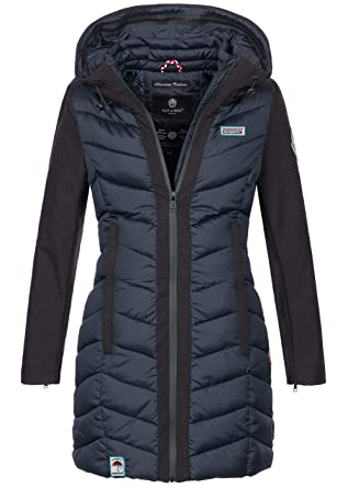 9afdf78bd1fe Navahoo Damen Wintermantel Mantel Steppmantel warm Winter Jacke lang Stepp  B674  Amazon.de  Bekleidung
