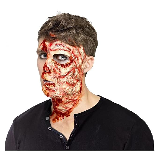 burned face scar special effects makeup scary zombie halloween costume fx