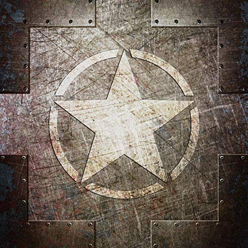 - Army Star on Riveted steel Art Print on Archival Paper