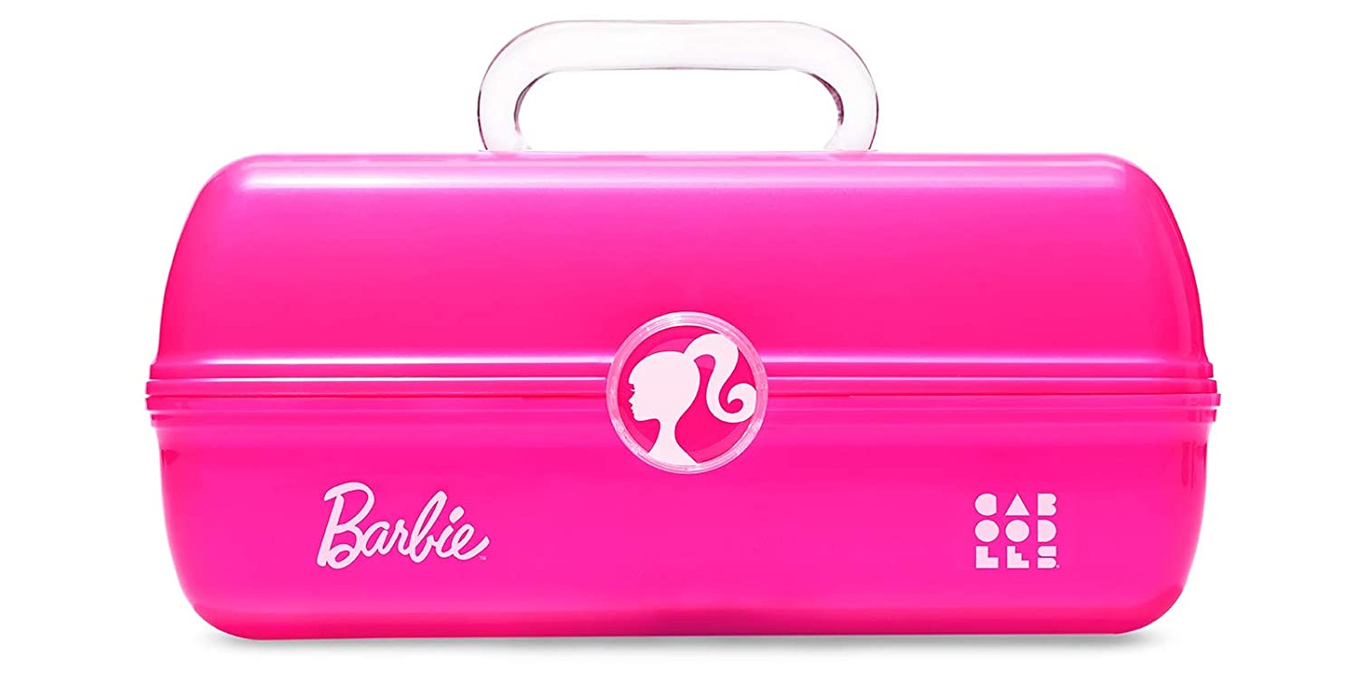 Caboodles On-The-Go Girl Barbie Classic Case, Make-Up & Accessory Case, Iconic Pink