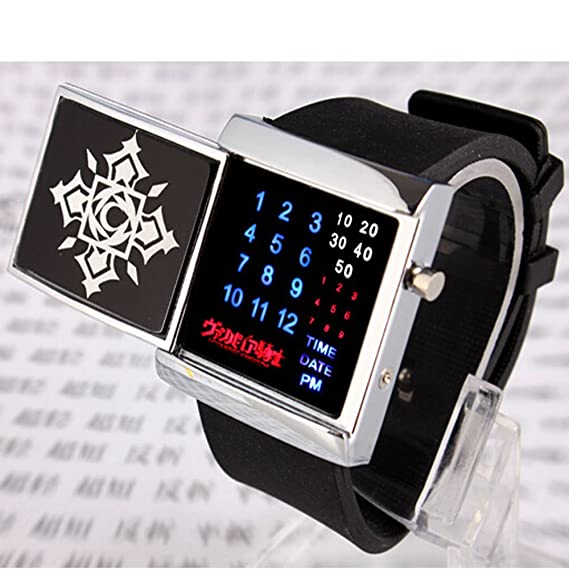 R-Timer Anime Cosplay reloj digital LED binario de Vampire Knight Matriz muñeca relojes: Amazon.es: Relojes