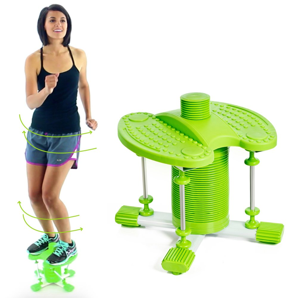 Dancer Flip Evolved Pogo Stick - With A Twist - Fun Exercise (Green, Adult 110 - 240 Ibs.)