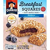 Quaker Breakfast Squares, Peanut Butter and Blueberry, 2.11 0z, 5 Count (Pack of 4)