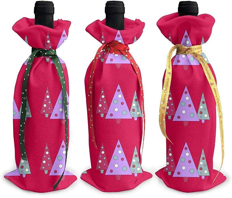 BUXI Printing Christmas Wine Cover,Helado Triangular Bolsas De Vino Tinto Memorables Ideales para La Actividad De Reunión De Vacaciones 12x34cm