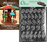 Cybrtrayd Music, Music, Music Chocolate Candy Mold with Chocolatier's Guide Instructions Book Manual