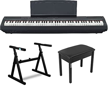 Wonderful Yamaha P115B Weighted Action Digital Piano With Knox Z Style Stand And Piano  Bench