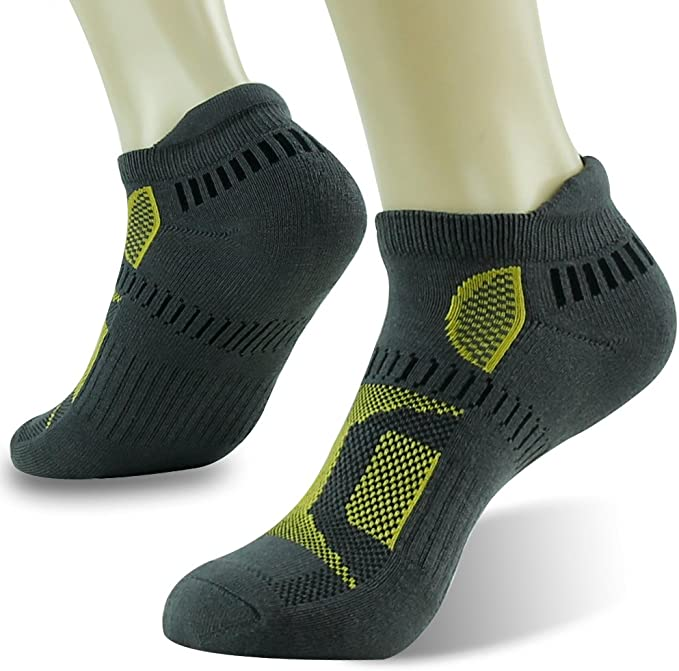 HAPYCEO Athletic Performance Cushioned Blister Resist No Show Running Socks for Men and Women