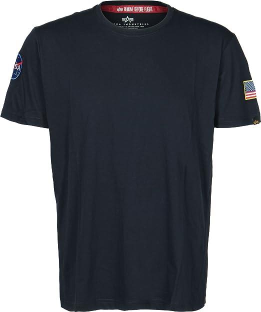 Alpha Industries Hombres Ropa superior / Camiseta NASA: Amazon.es: Ropa y accesorios