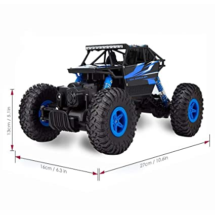 Amazon.com: RC Car ,CR 2.4Ghz 4WD High Speed Off-Road Vehicle RC Rock Crawler 1:18 Electric Radio Remote Control Monster Truck Fast Hobby Truggy Cars: Toys ...