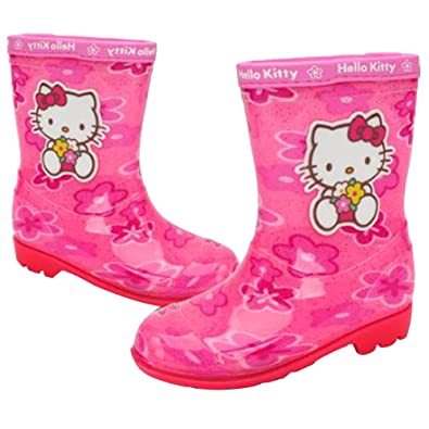 Amazon hello kitty girls pink flower rain boot shoes hello kitty girls pink flower rain boot shoes parallel importgeneric product mightylinksfo