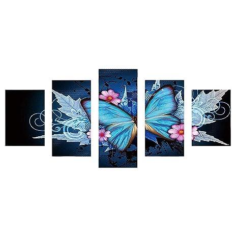 POLP Pintura de Diamantes kit 5d diamond pintura de diamantes flores hogar moderna decoración bordado artesanías cruzadas Kit de decoración para el hogar ...