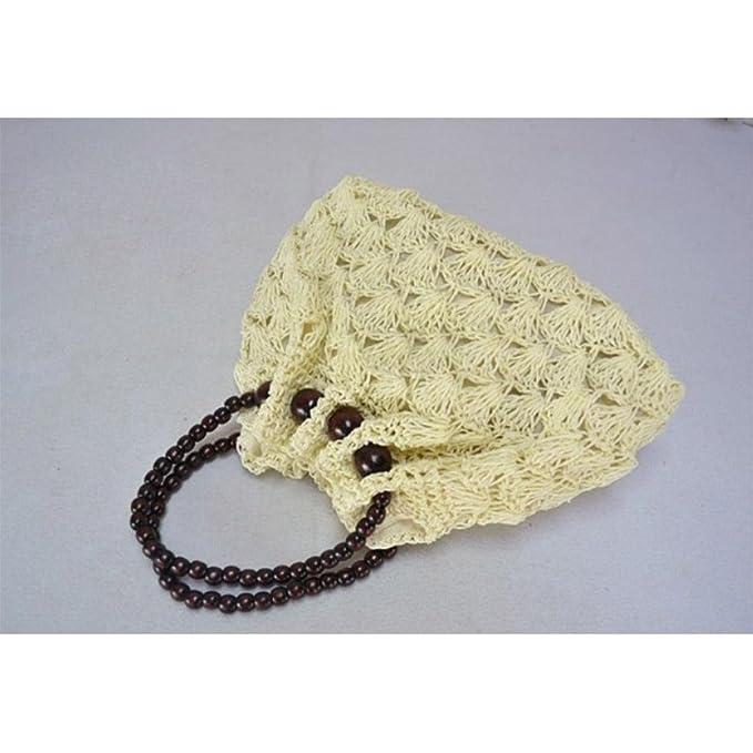 MOXIN Bolsa tejida - Bolso de la playa del Crochet de las mujeres ...