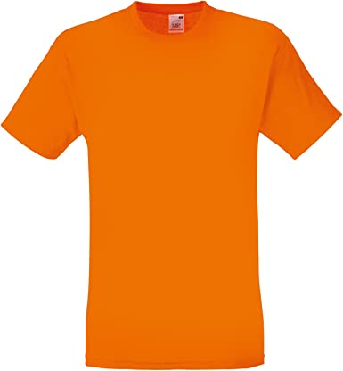 Camiseta de manga corta de Fruit of the Loom para hombre Naranja naranja Medium: Amazon.es: Ropa y accesorios
