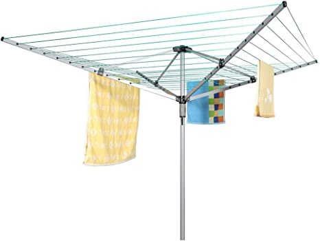 Homegear Outdoor Rotary Clothes Airer - Space-Saver