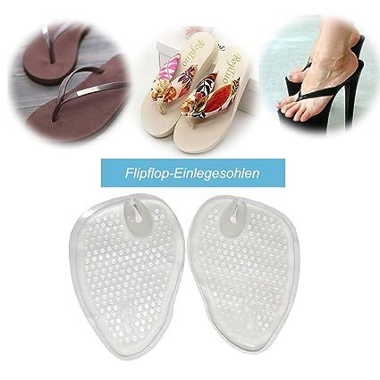2 pares de chanclas EINLAGEN, gel cojín para juanetes chanclas Sandalias Sandals Guantes, antepié