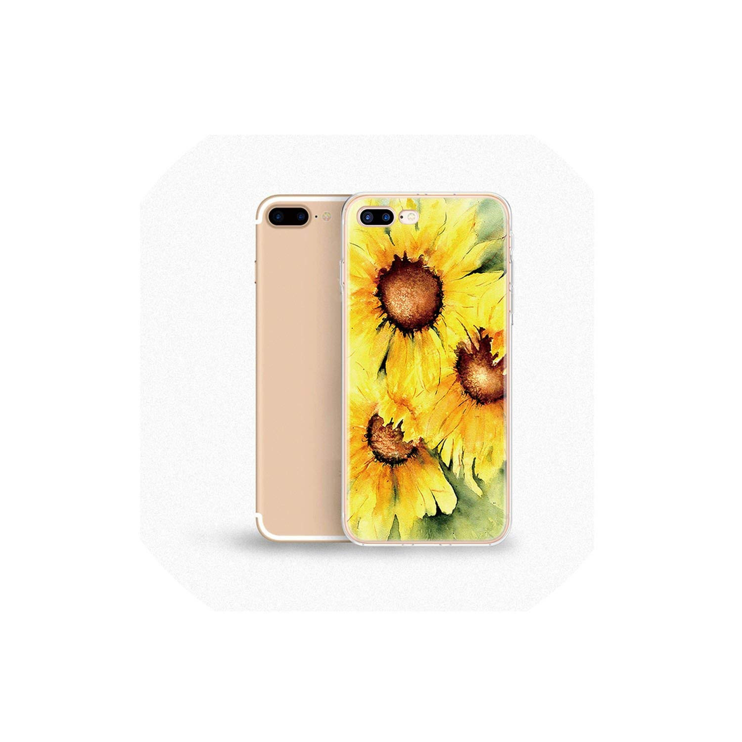 Amazon.com: Daisy Sunflower Floral Case for iPhone Xs Max 6 ...