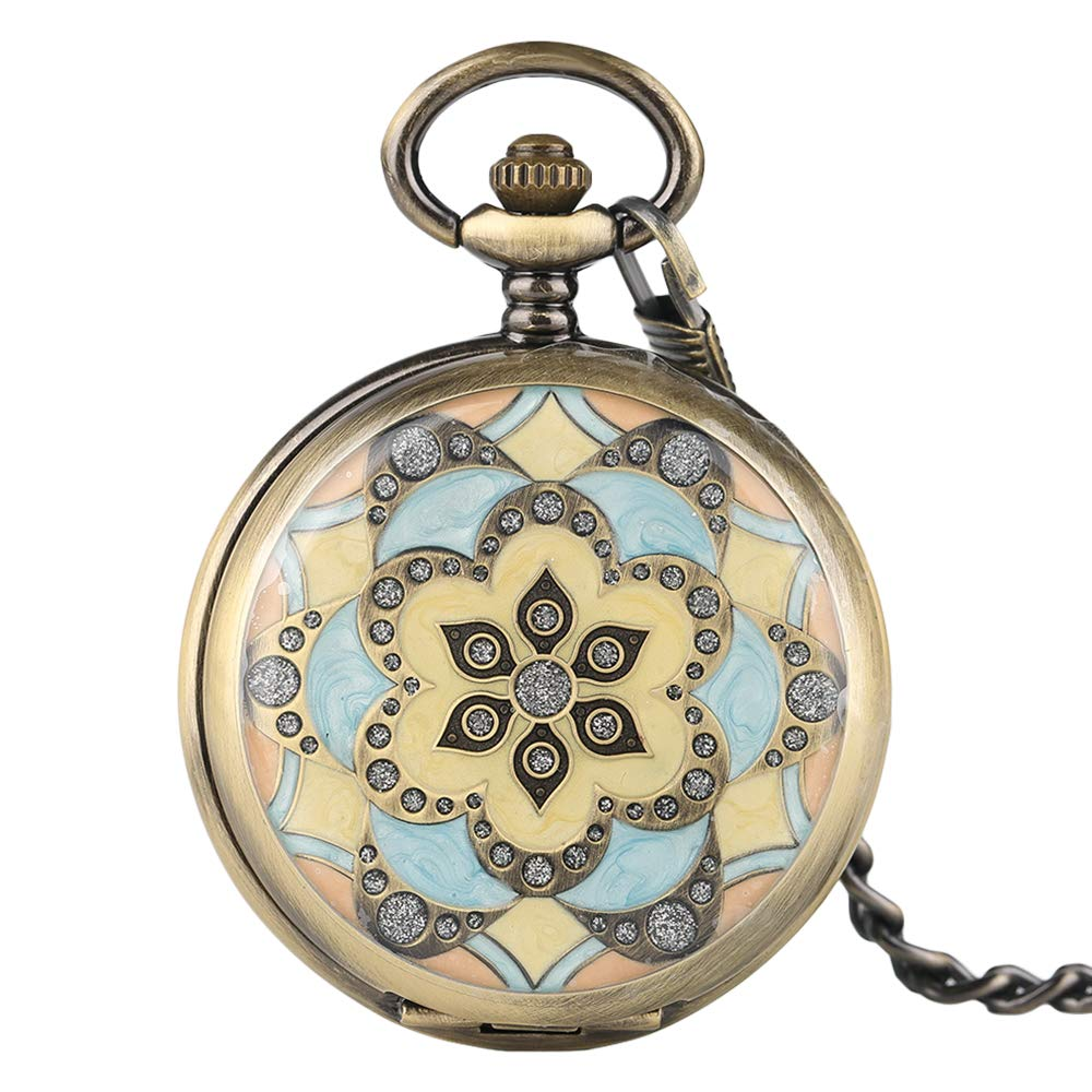 Creative Pocket Watch, Mechanical Hand Winding Pocket Watch, Gifts for Men Women by mygardens (Image #1)