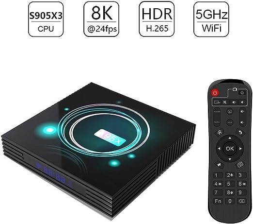Douerye Smart Home Reproductor Multimedia Ultra Streaming Y 4K HD Android 9.0 Web Player TV Box, Comando con Tu Voz,4gbram64gbram: Amazon.es: Hogar