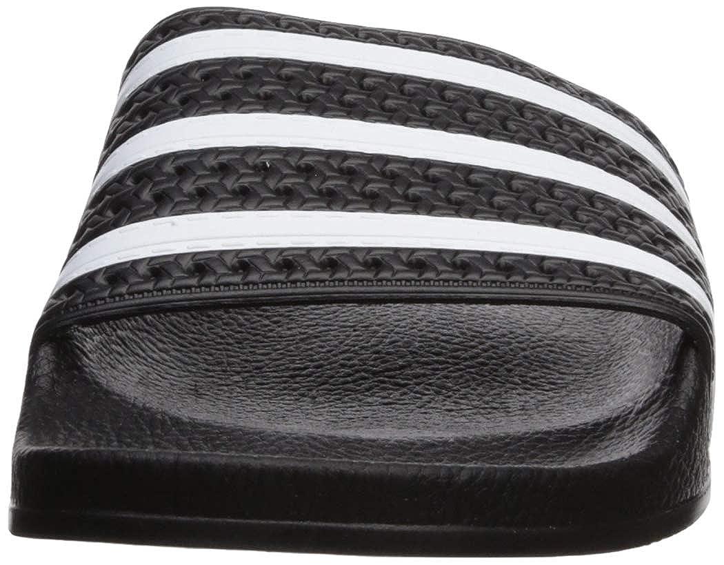 adidas Originals ADILETTE 280647, Sandales mixte adulte Noir (Black/White/Black)