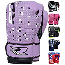 RDX Maya Hide Leather 4oz 6oz Kids Boxing Gloves Junior Punch Bag Children MMA Training Muay Thai Mitts