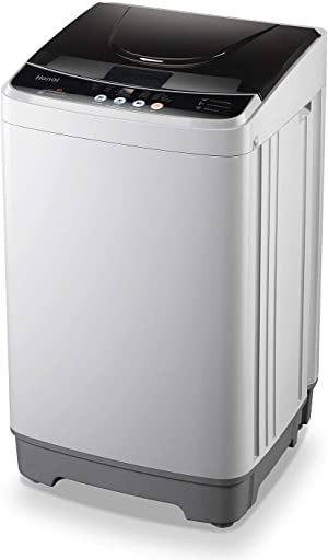 WANAI Full-Automatic Washing Machine 1.32cu.ft/12lbs Portable Compact 2 in 1 Laundry Washer with Drain Pump, 10 Programs 8 Water Level Selections with LED Display, Ideal for Dorm Apartment