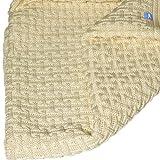 Wallaboo Baby Blanket Eden Merino Wool Vanilla, 100 Percent Super Soft Organic Merino Wool, Natural Comfort, Large Size, 4 Seasons, Newborn, Vanilla