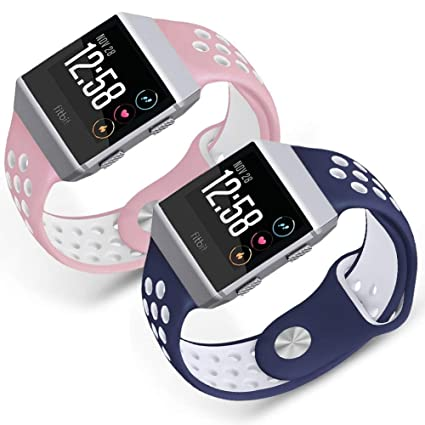 SKYLET Compatible with Fitbit Ionic Bands,Soft Silicone Breathable Replacement Wristband Accessories Compatible with Fitbit Ionic Smart Watch Bracelet ...